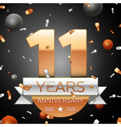 Eleven years anniversary celebration background vector