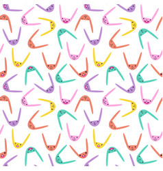 Rabbit seamless pattern-23 vector