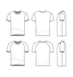 Templates of blank t-shirt vector