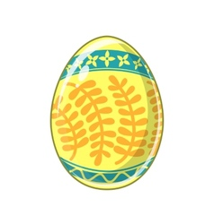 Easter egg bright colored holiday symbol vector