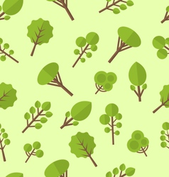 Seamless pattern with different trees in flat vector