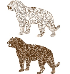 Indian tiger patterns vector