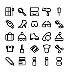 Clothes icons 8 vector