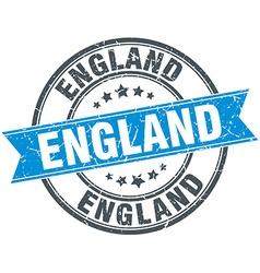 England blue round grunge vintage ribbon stamp vector