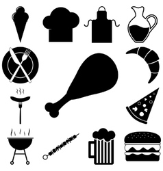Food and restourant signs set vector