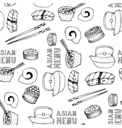Asian menu vector image