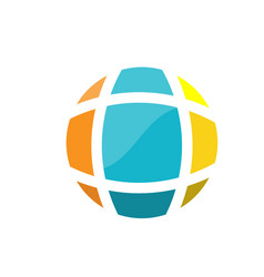 abstract earth globe logo vector image vector image