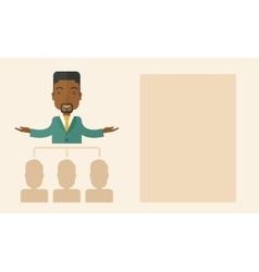 African-american man giving a buisness speech vector
