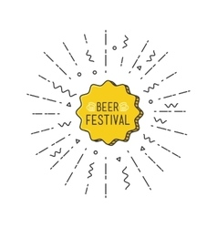 Beer festival shining banner colorful background vector