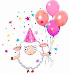 birthday sheep vector image vector image