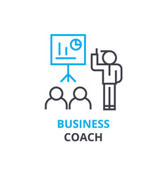 business coach concept outline icon linear sign vector image vector image