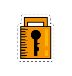 cartoon padlock security system image vector image
