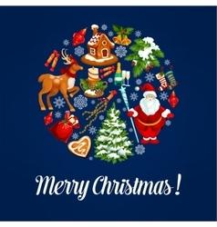 Christmas ball silhouette with xmas symbols vector