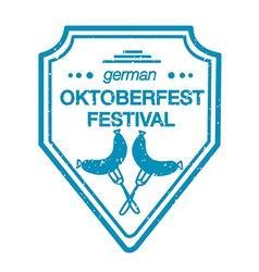 Collection of oktoberfest hand drawn logo vector