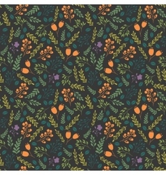 Colorful seamless pattern with decorative flowers vector image vector image