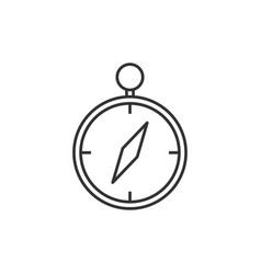 compass line icon vector image vector image