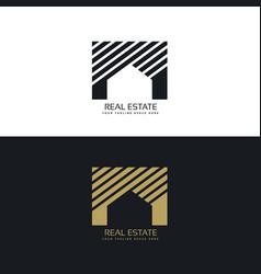 creative house or real estate logo design concept vector image vector image