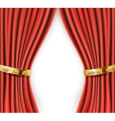 curtains background vector image vector image