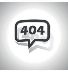 Curved error 404 message icon vector