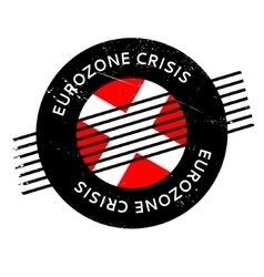 Eurozone crisis rubber stamp vector