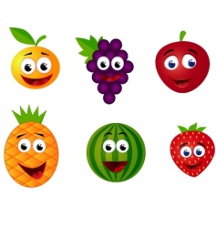 Fruits cartoon vector