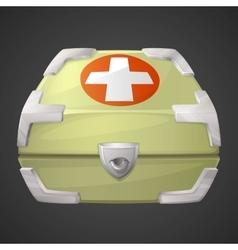 Funnycartoon medicine box or case vector