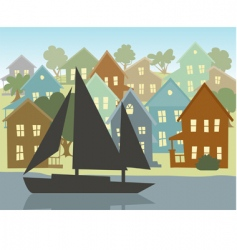 going sailing vector image vector image