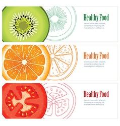 Healthy food banner vector