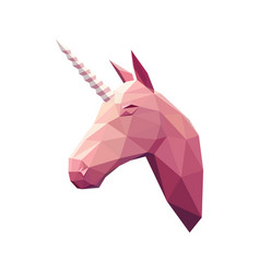 low poly unicorn vector image