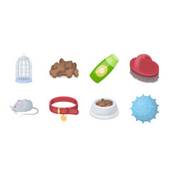 Pet shop icons in set collection for designthe vector