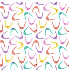 rabbit seamless pattern-23 vector image