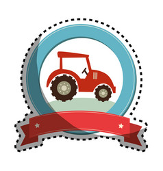 tractor farm isolated icon vector image