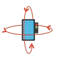 Vr smartphone online 3d model 360 vector
