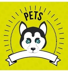 Dog pet mascot icon vector