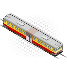 Isometric electric train vector