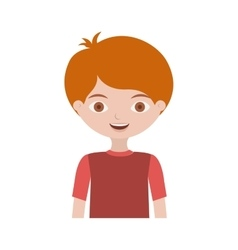 Half body child with t-shirt and readhead vector