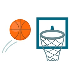 Basketball shot vector