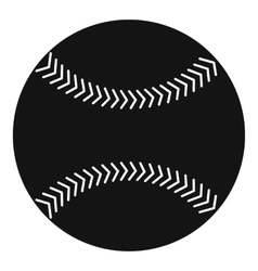 Baseball icon simple style vector image