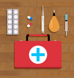 Medical cure and tools vector