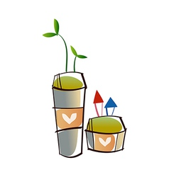 A flower pot vector