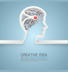 creative idea hand vector image