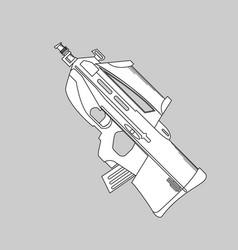 Automatic firearms pistol rifle machine gun in vector
