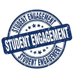 Student engagement blue grunge stamp vector