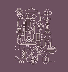 Music factory outline vector
