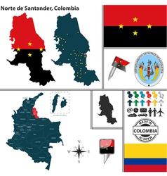 Map of Norte de Santander vector image