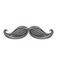 Hand drawn mustache vector