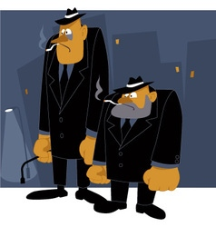Mafia never sleeps vector image
