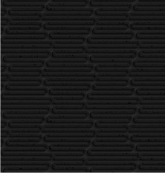 Textured black plastic wavy hexagons vector