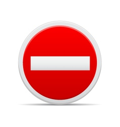 No entry sign vector