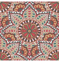 Seamless colorful pattern in indian motif zenart vector
